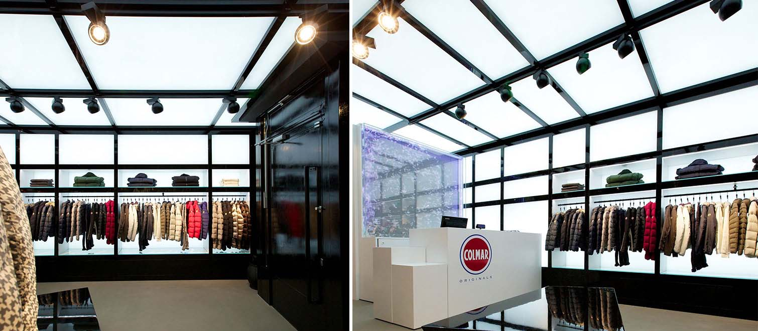 colmar original flagship store reggiani illuminazione. Black Bedroom Furniture Sets. Home Design Ideas